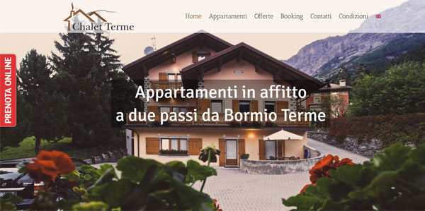 Sito web Chalet Terme Bormio