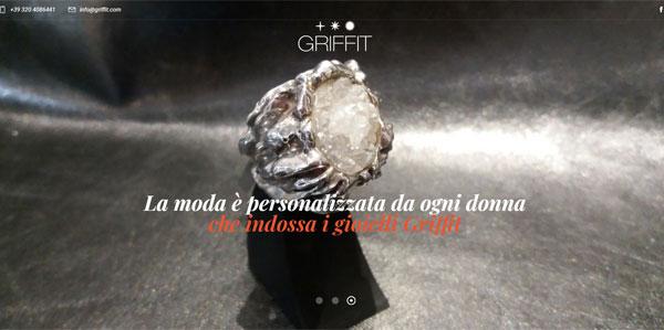 Sito web Griffit Gioielli Milano